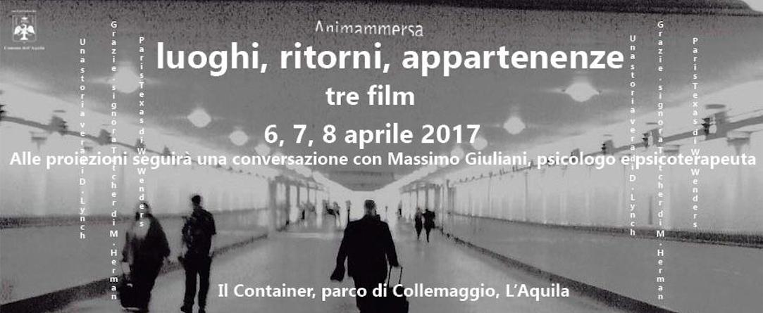 """""""Luoghi, ritorni, appartenenze"""" a L'Aquila (6, 7 e 8 aprile 2017)"""